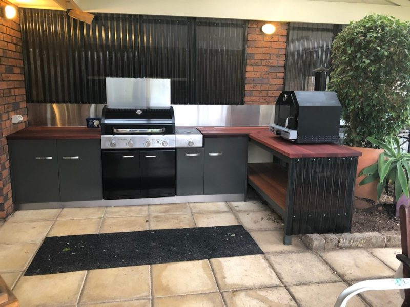 BBQ kitchen completed